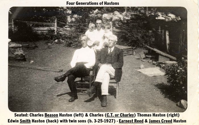 C.T. Haston and 3 generations of descendants