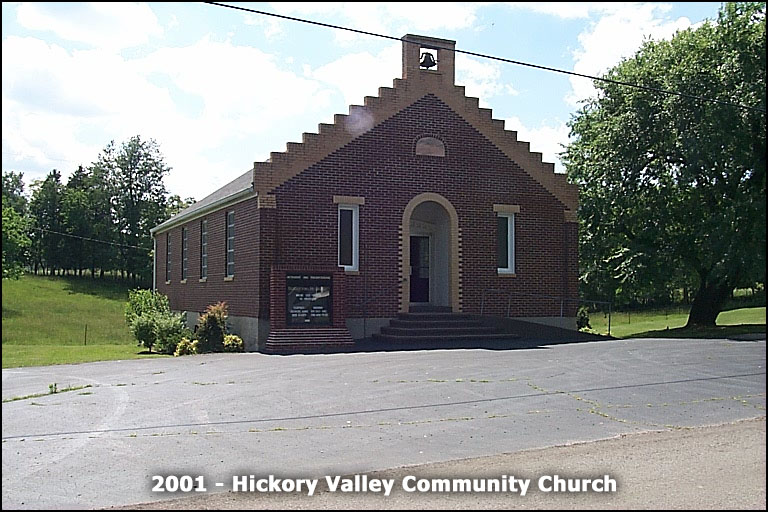 Hickory Valley Community Church - blend of Methodist, Presbyterian, and Cumberland Presbyterian congregations