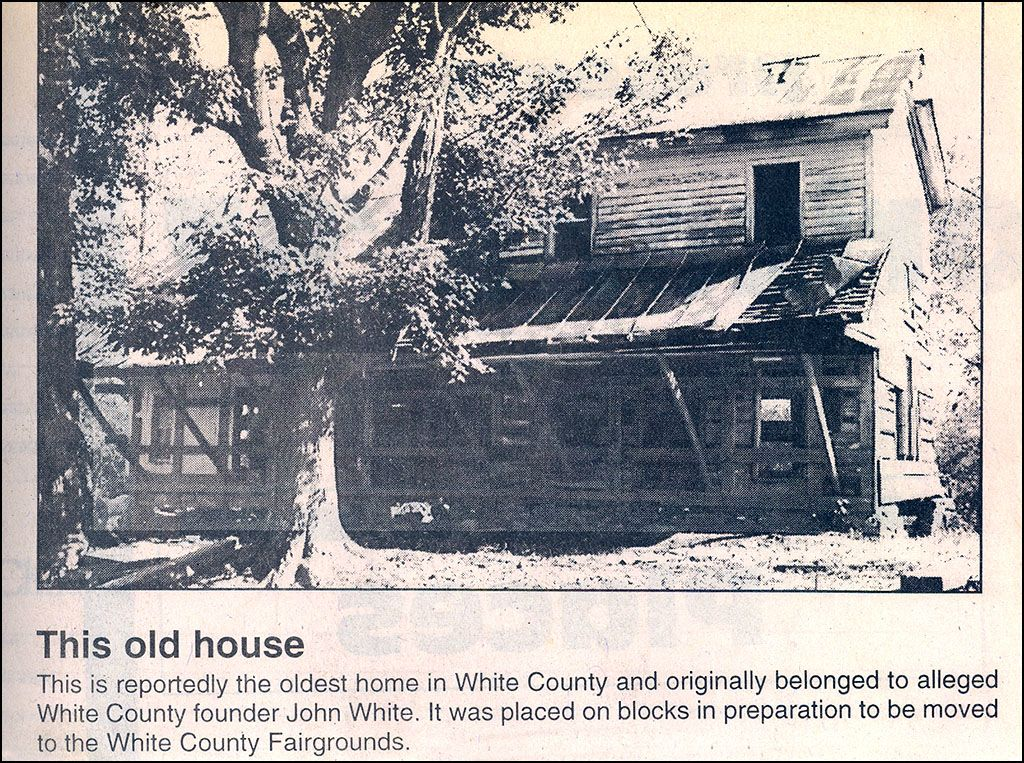 The John White House before it was moved- supposedly oldest house in White County, TN.  Originally on the Old Union Road in Hickory Valley.