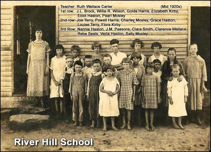 River Hill School in southern White County, TN (about 1930)